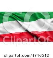 Flag Of North Rhine Westphalia Waving In The Wind