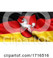 Flag Of Lower Saxony Waving In The Wind