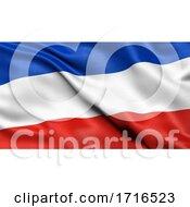 Flag Of Schleswig Holstein Waving In The Wind