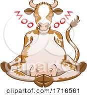 Poster, Art Print Of Cartoon Meditating Cow