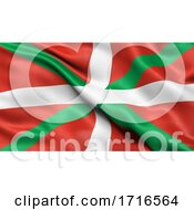 Flag Of The Basque Autonomous Community Waving In The Wind