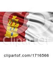 Flag Of Castilla La Mancha Waving In The Wind
