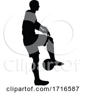06/12/2020 - Soccer Football Player Silhouette