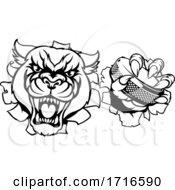06/12/2020 - Panther Ice Hockey Player Animal Sports Mascot