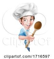 06/12/2020 - Kid Cartoon Boy Chef Cook Baker Child Sign