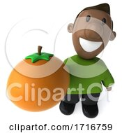 3d Casual Black Man, on a White Background by Julos #COLLC1716759-0108