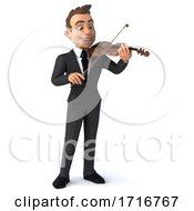 3d Young White Business Man On A White Background