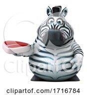 Poster, Art Print Of 3d Zebra On A White Background