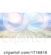 Abstract Banner With Sunburst Design
