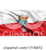 Flag Of Cantabria Waving In The Wind