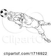 Poster, Art Print Of Rhino Soccer Football Player Animal Sports Mascot
