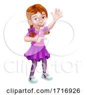 06/17/2020 - Kid Cartoon Girl Child Pointing
