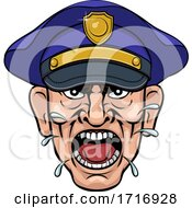 Angry Policeman Police Officer Cartoon