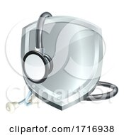 Shield Stethoscope Medical Health Concept