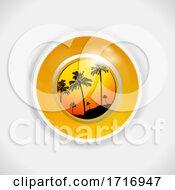 Yellow Summer Bingo Lottery Ball 3D Illustration