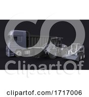 Poster, Art Print Of Front Loader Digger Isolated