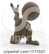 3D Morph Man Protesting Peacefully