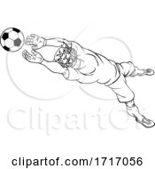 06/20/2020 - Wildcat Soccer Football Player Sports Mascot