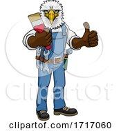 Poster, Art Print Of Eagle Painter Decorator Holding Paintbrush