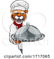 06/20/2020 - Tiger Chef Mascot Sign Cartoon Character