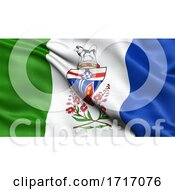 Flag Of Yukon Waving In The Wind