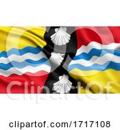 Poster, Art Print Of Flag Of Bedfordshire Waving In The Wind