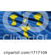 Flag Of Cheshire Waving In The Wind