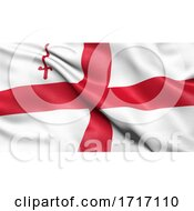 Poster, Art Print Of Flag Of The City Of London Waving In The Wind