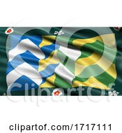 Poster, Art Print Of Flag Of Cumbria Waving In The Wind