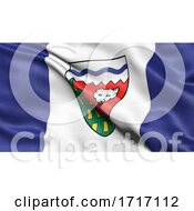 Poster, Art Print Of Flag Of The Northwest Territories Waving In The Wind