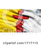 Poster, Art Print Of Flag Of Nunavut Waving In The Wind
