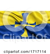 Poster, Art Print Of Flag Of Durham Waving In The Wind