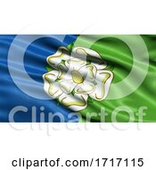 Poster, Art Print Of Flag Of East Riding Of Yorkshire Waving In The Wind