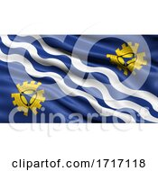 Flag Of Merseyside Waving In The Wind
