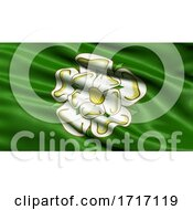 Poster, Art Print Of Flag Of North Yorkshire Waving In The Wind