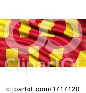 Flag Of Northumberland Waving In The Wind