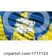 Poster, Art Print Of Flag Of West Yorkshire Waving In The Wind