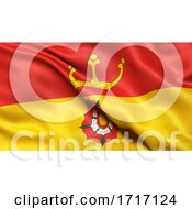 Poster, Art Print Of Flag Of Hampshire Waving In The Wind