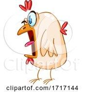 Poster, Art Print Of Cartoon Panicked Chicken