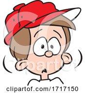 Cartoon Boy Looking Startled