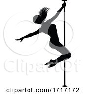 Poster, Art Print Of Pole Dancer Woman Silhouette