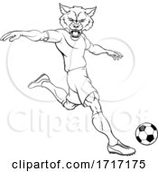 06/22/2020 - Wolf Soccer Football Player Animal Sports Mascot