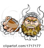06/22/2020 - Viking American Football Sports Mascot Cartoon