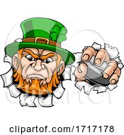06/22/2020 - Leprechaun Ice Hockey Sports Mascot Cartoon