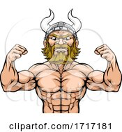 06/22/2020 - Viking Barbarian Mascot Muscle Strong Cartoon