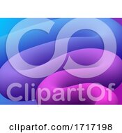 Abstract 3d Blend Shape Background