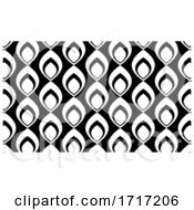 Poster, Art Print Of Black And White Pattern