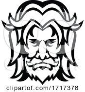 Baldr Balder Or Baldur Norse God Front View Mascot Black And White