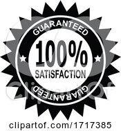 100 Percent Satisfaction Guaranteed Stamp Mark Seal Sign Black And White