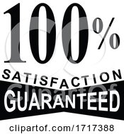 100 Percent Satisfaction Guaranteed Mark Sign Black And White